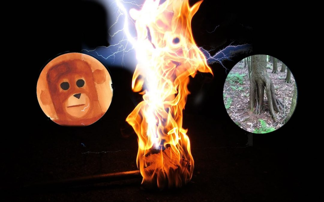 Holding the Lightning Torch with Rollo & Slappy