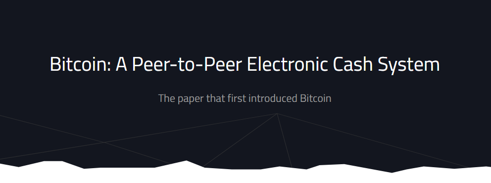 The Bitcoin Whitepaper