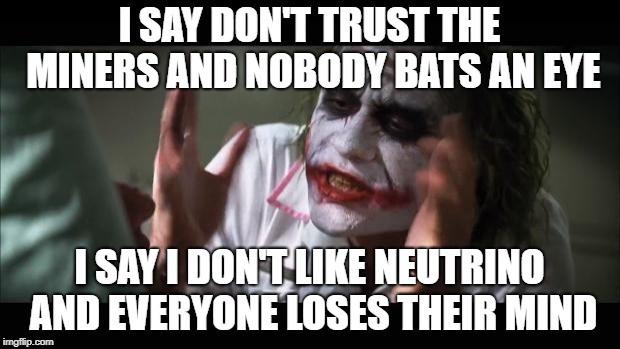 Why I Don't Celebrate Neutrino