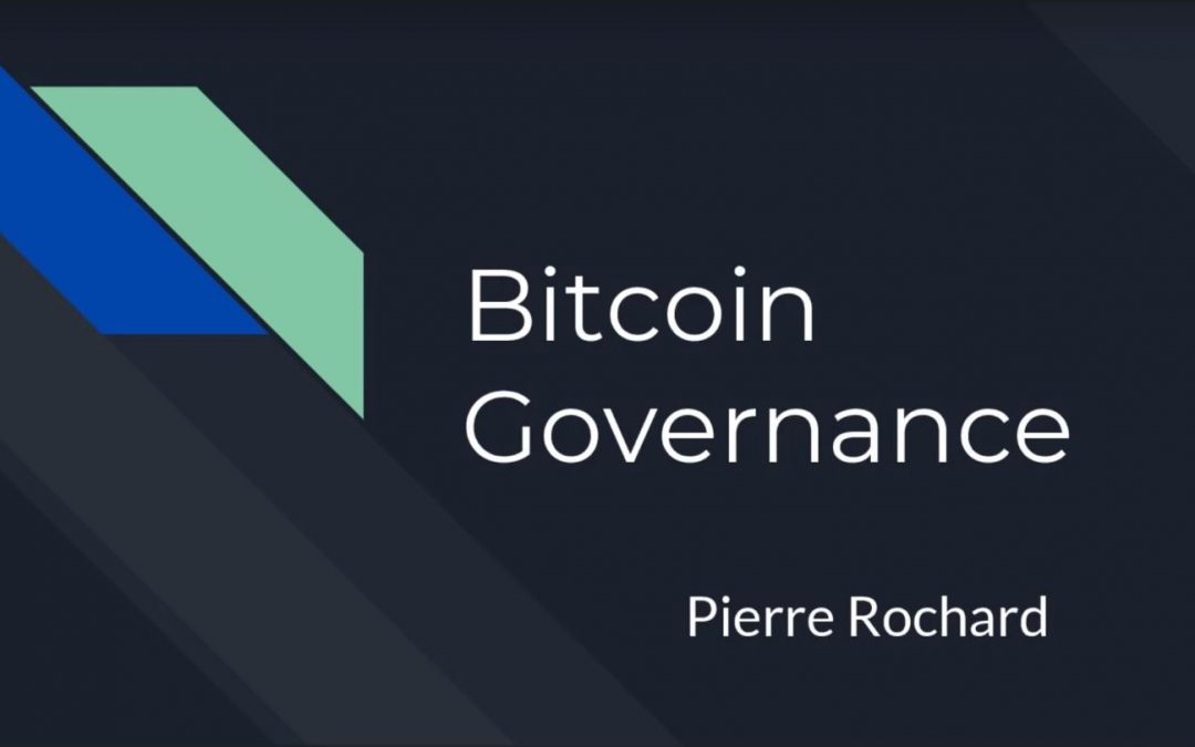 Bitcoin Governance