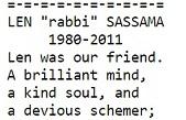 Len Sassaman & Satoshi, A Cypherpunk History